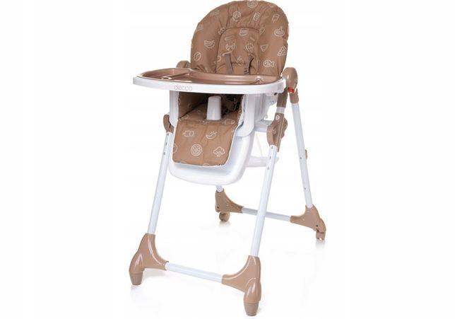 4BABY Decco krzesełko do karmienia brązowe
