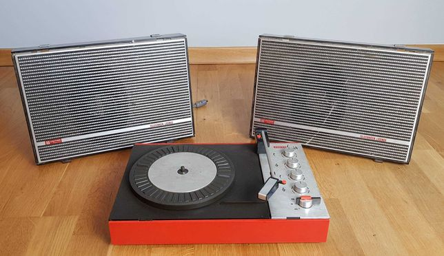 Gramofon Stereo Hit ze wzmacniaczem i głośnikami - Unitra Fonica