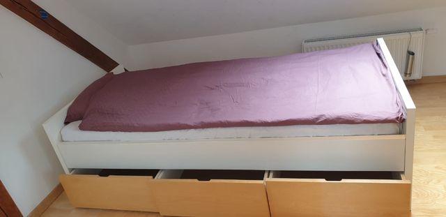 Komplet IKEA szafa + łóżko + szafka nocna