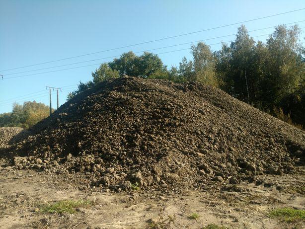 Ziemia humus na podniesienie terenu usługi koparka wywrotka transport