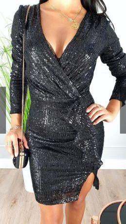 Sukienka cekinowa rozmiar L