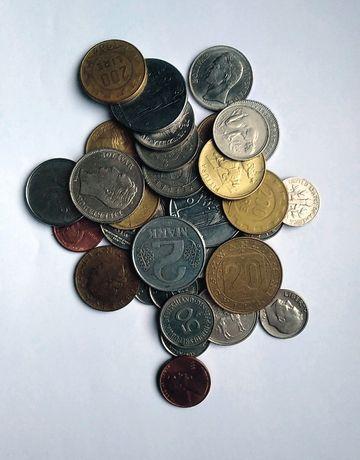 Monety świata, różne 30 szt.