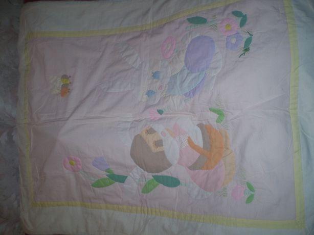 Одеялко детское с апликацией, 115х85см