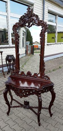 Toaletka , lustro , meble kolonialne , holenderskie