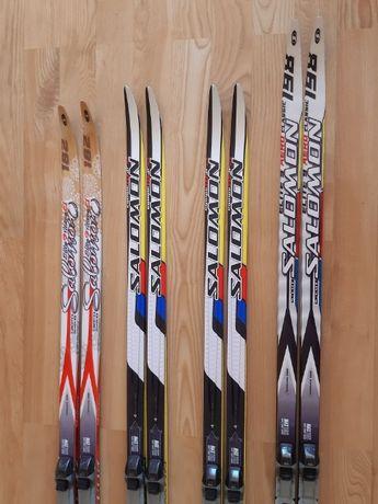 narty biegowe biegówki salomon + buty i kijki narciarskie