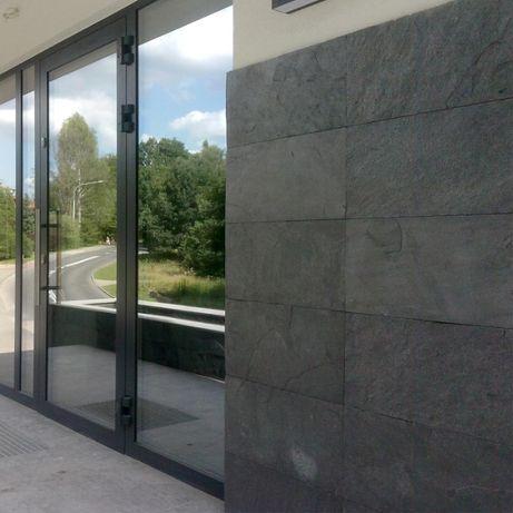 Płytki Kamienne Łupek Szary Silver Grey naturalny 30x60x1,2 cm