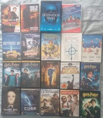 19 Filmes em DVD Ediçao francesa (vendo a unidade 2€ cada)