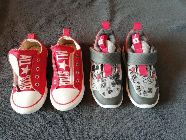 Buciki Adidas Mickey i converse, wkładka 17cm.