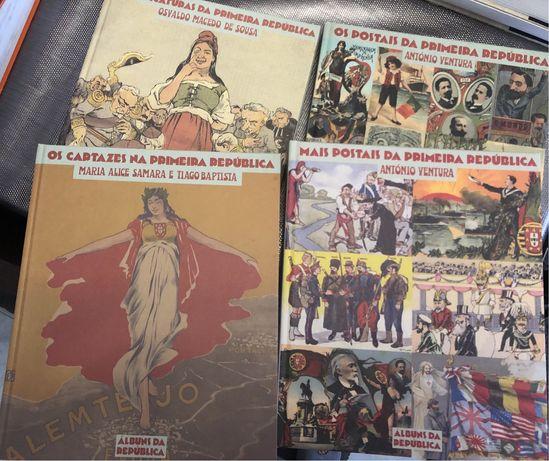 Primeira República Portuguesa - 4 vols - Postais, Caricaturas e Cat…
