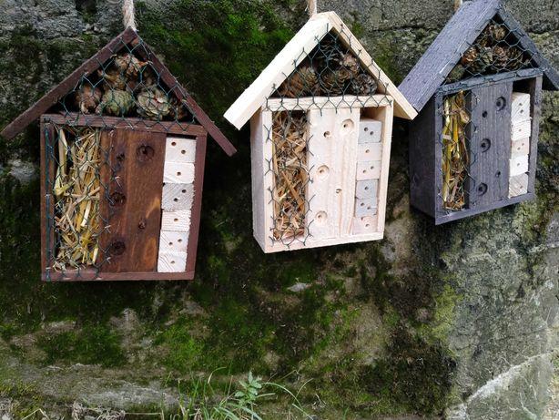 Hotel domek dla owadów do ogrodu, szklanki, na działkę, do tunelu