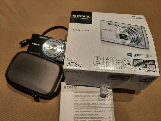 Aparat SONY Cyber Shot DSC-W730, 100% sprawny, etui, bateria, ładowark
