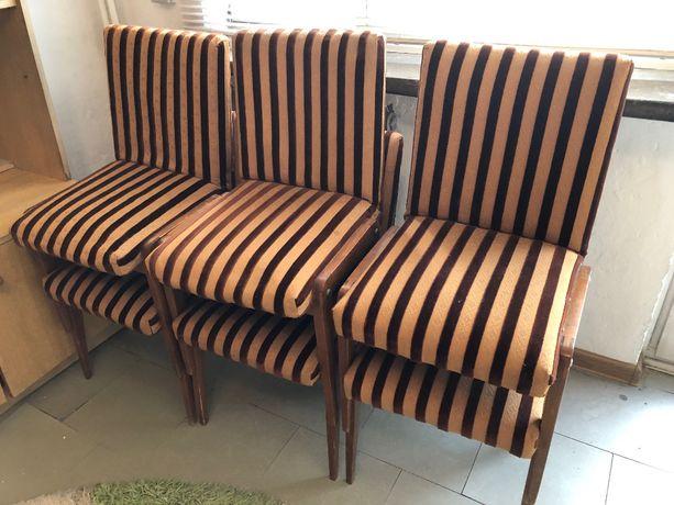 Krzesła komplet 6 szt lata 70/80 po renowacji