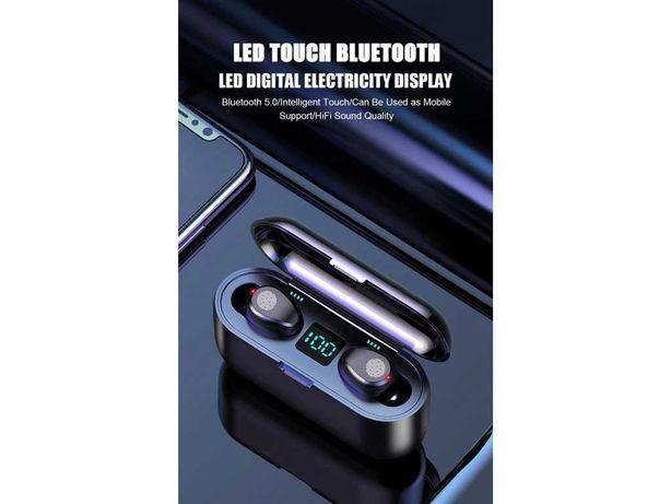 Auriculares Bluetooth V5.0 Powerbank (NOVOS)