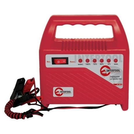 Зарядное устройство аккумулятора Intertool - 6 - 12 В,6 А,светодиодный