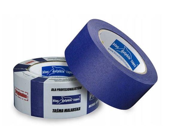 TAŚMA MALARSKA Blue Dolphin 38x50m niebieska, papierowa, delfin, taśmy