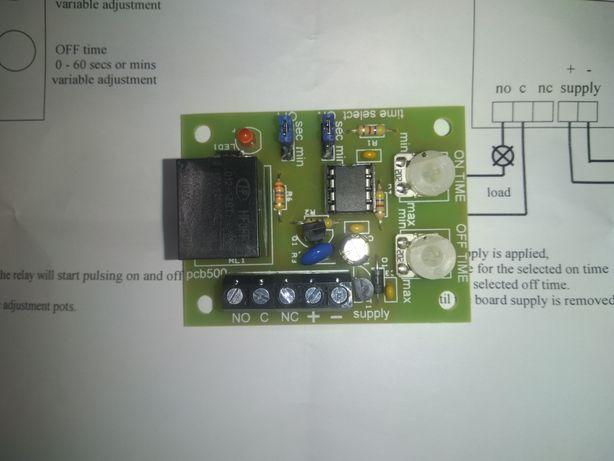 Placa de relais temporizador cíclico-pulsante 0/60s a 0/60minutos