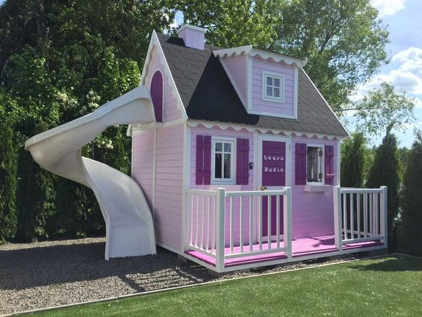 Domek ogrodowy dla dzieci Królowa, drewniany plac zabaw od Dżepetto!