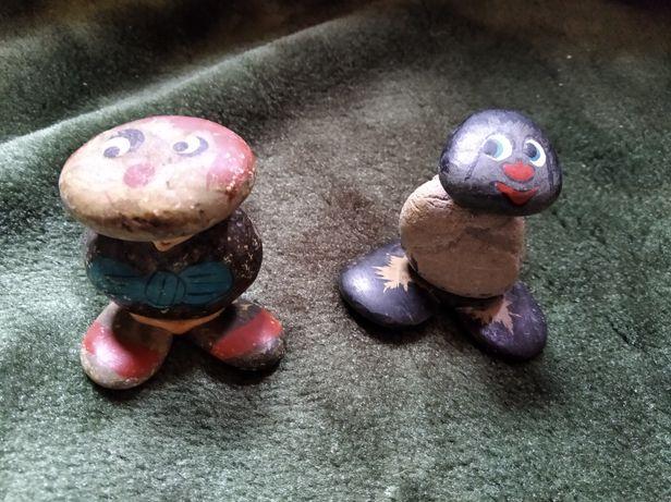 Kamienne ludziki hand made ręczna robota malowane ozdoba
