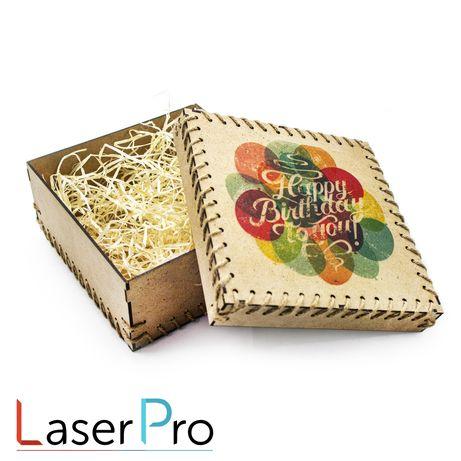 Подарочная коробка с любой печатью на Ваш выбор