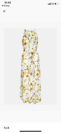 Glora Pleated Wallis dluga sukienka ivory