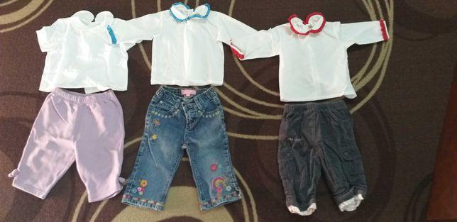 Roupinha menina 9 / 12 meses calças camisas saia