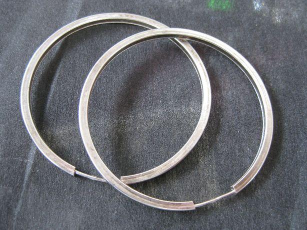 Stare srebrne kolczyki koła