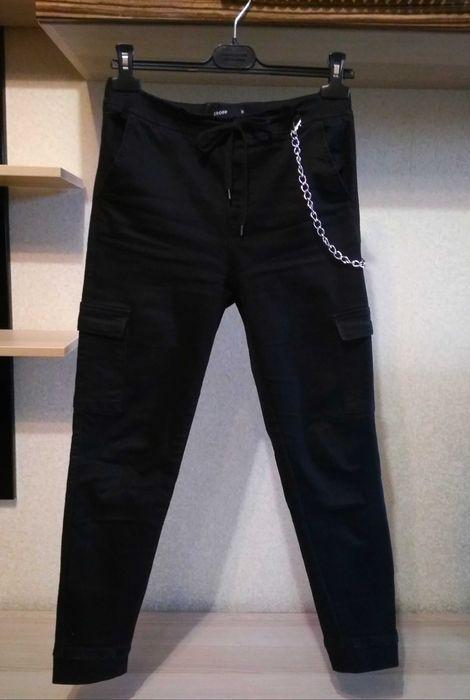 Черные женские штаны с цепью Чернигов - изображение 1