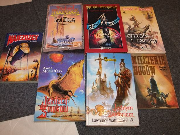 książki fantasty 7 sztuk