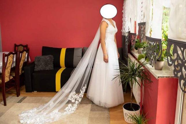 Piękna suknia slubna rozmiar 36/38 lub M stan idealny zapraszam