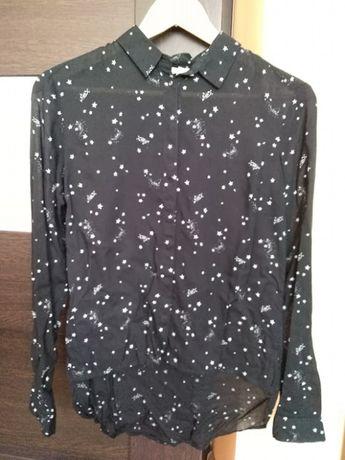 Bluzka czarna w gwiazdki - rozmiar 34