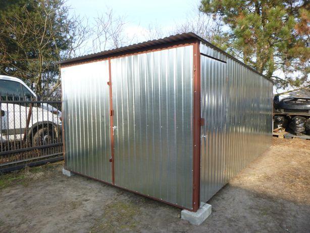 Garaż Blaszany 3x5 Wzmocniony Blaszak Schowek na budowę Garaże Budowa