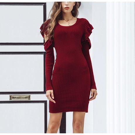 НОВОЕ брендовое платье, теплое, трикотажное