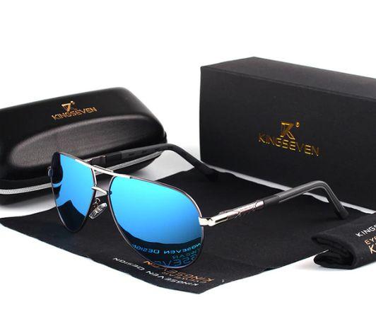 Okulary Przeciwsłoneczne Polaryzacyjne Męskie z Etui UV400 HD