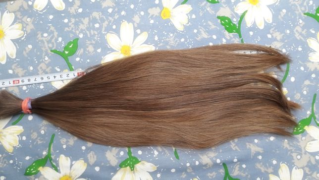 Włosy polskie dziewicze ścięte z głowy  blond 45cm