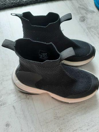 Buty Zara Chłopięce czarne Botki