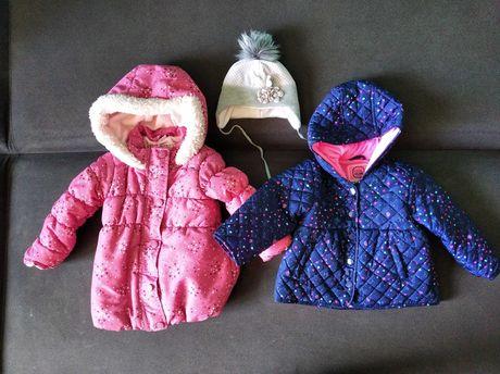 Kurtka zimowa Tacco r. 86 + kurtka Cool Club r. 80 dla dziewczynki