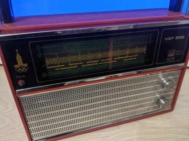 Радиоприемник VEF 202 олимпийский.