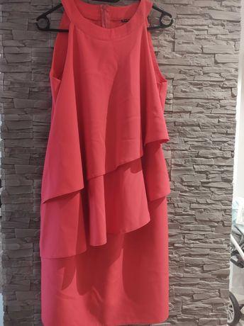 Sukienka z falbankami rozm L/XL , odcień różu