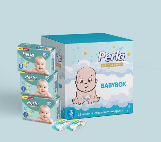 Подгузники BABY BOX Perla Premium| Бесплатная Доставка | 18 упаковок .