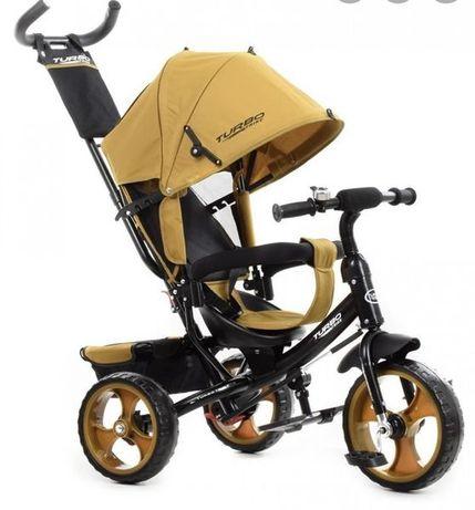 Дитячий триколісний велосипед-коляска, ЗВОНОЧЕК на руле