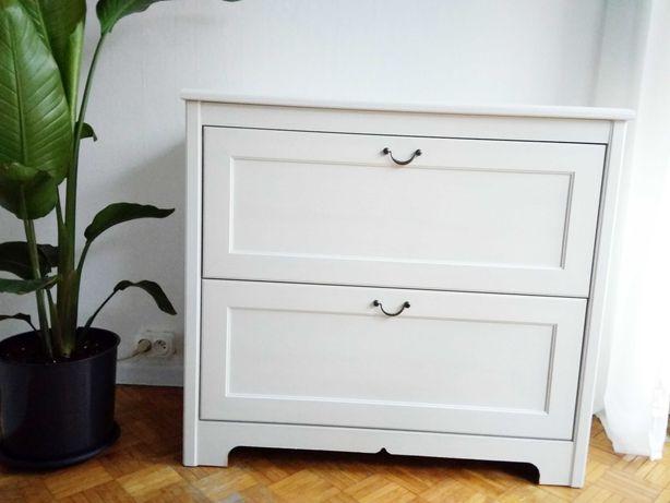 Ikea Aspelund biała komoda szafka skrzynia szafa songesand Hemnes