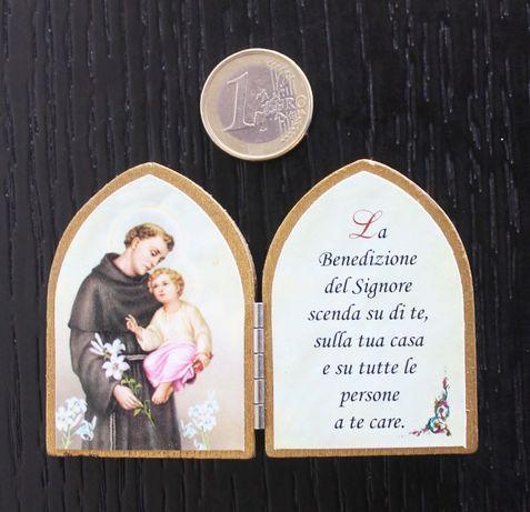 Mini-oratório italiano em madeira / recordação do Vaticano