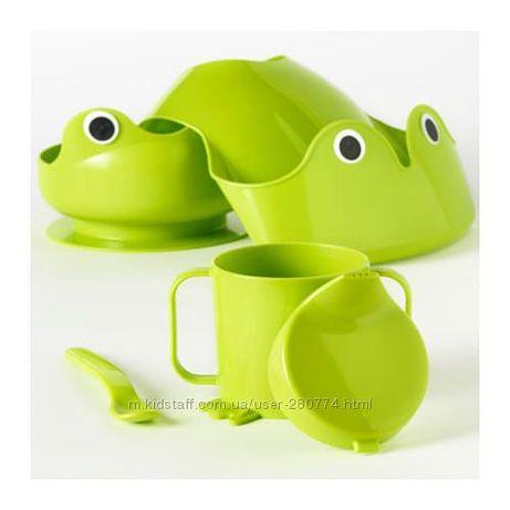 IKEA набор детской посуды Оригинал 4 предмета