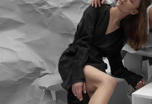 Черное платье-рубашка Icon Mania XS