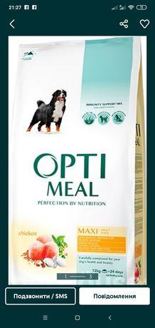 Корм для собак Оптіміл та 4 лапи