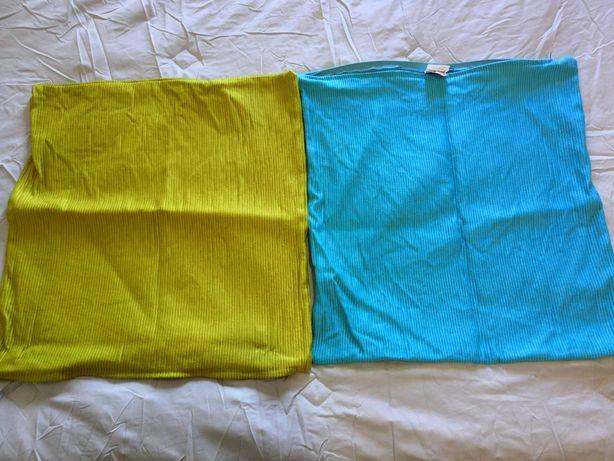 Capas almofada verde e azul
