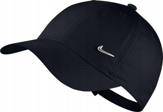 Czapka czarna z daszkiem Nike Metal Swoosh Adjustable - Nike