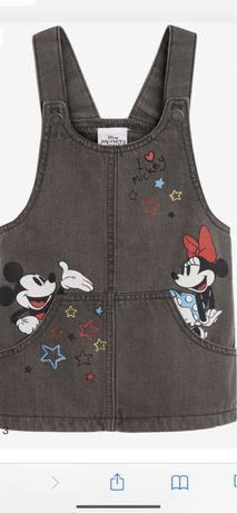 Next sukienka Jeans Minnie Mickey Disney 5-6