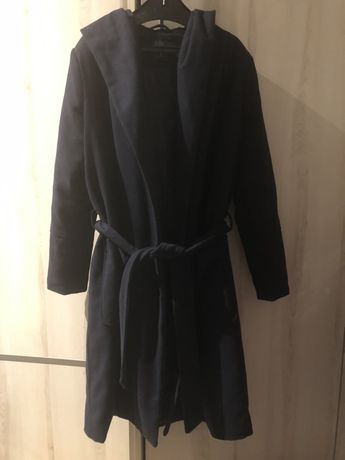Płaszcz szlaflokowy zimowy ciepły granatowy Carry r. S