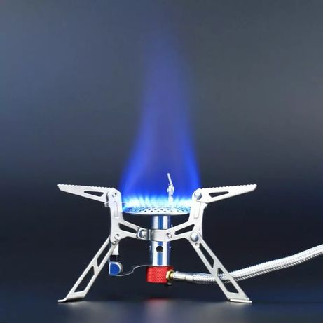 Kuchenka turystyczna składana gazowa, mini palnik zapalarka piezo